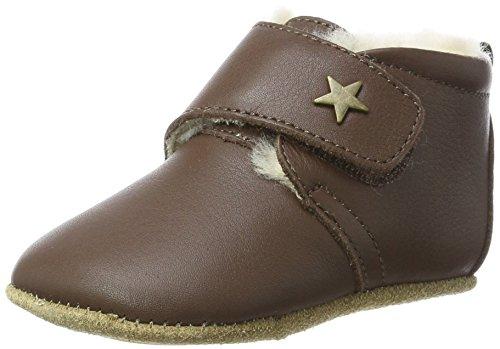 Bisgaard Unisex Baby Wool Star Pantoffeln, Braun (60 Brown), 22 EU