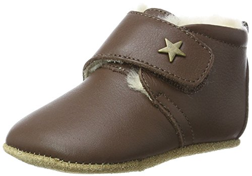 Bisgaard Unisex Baby Wool Star Pantoffeln, Braun (60 Brown), 20 EU