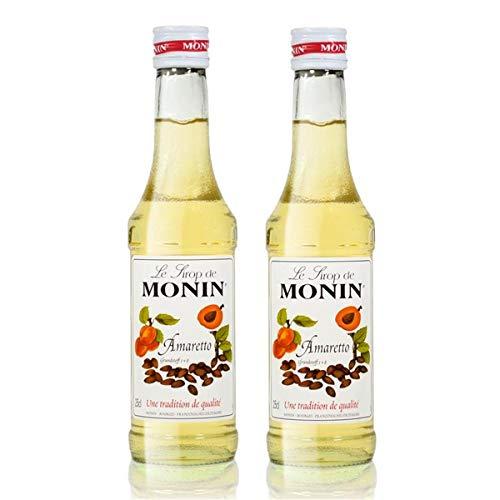 2x Monin Amaretto Sirup, 250 ml Flasche