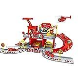 YO-HAPPY City Fire Station Fire Rescue Tower Building Set Creativas Minifiguras de Bombero para Jugar con Juguetes de vehículos de Emergencia