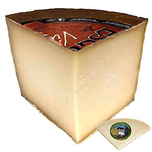 Queso Viejo Flor de Esgueva - Cuarto de Queso Curado Puro de Oveja - Incluye Cuña Degustación Queso de Oveja Curado de REGALO - Elaborado con leche cruda madurado en corteza natural