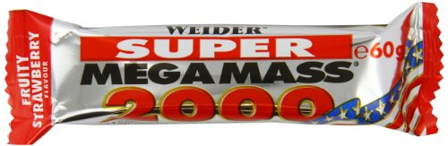 Weider, Super Mega Mass 2000, Strawberry, 1er Pack (24x 60g Riegel)