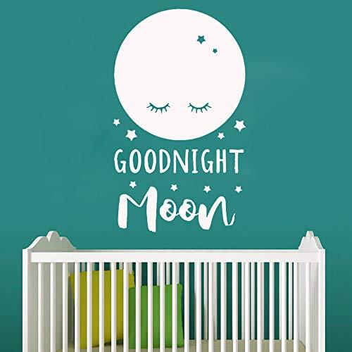 Sanzangtang Muursticker, met leuke witte maan en goede nacht