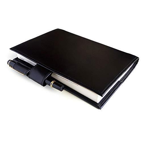 ほぼ日手帳 カズンサイズ対応 A5サイズ ブックカバー ※手帳本体は付きません (ブラック)