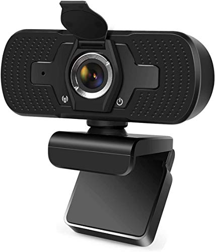 1080P Webcam with Microphone, USB 2.0 Desktop Laptop Web Cam with Noise Reduction, Sharp Image, Plug & Play for PC/Mac Laptop/Desktop Video Streaming, Conference, Gaming, Online Classes