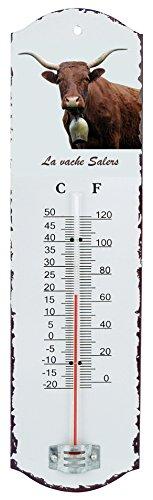 35 x 10 x 2 cm Cartexpo TT850 Metall-Thermometer Chat Noir Drouot