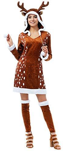 REH Kostüm für Damen - Rentier Deer Hirsch Weihnachten - Gr. S