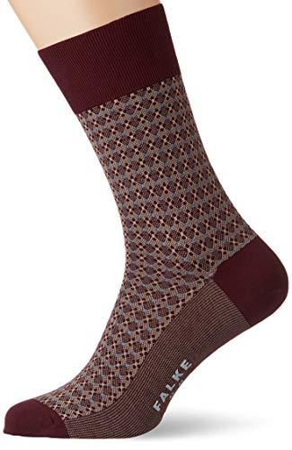 FALKE Herren Socken Neutral Connection, 81% Baumwolle, 1 Paar, Rot (Barolo 8596), Größe: 43-44