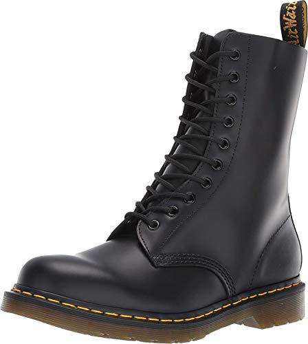 Dr. Martens 1490Z Smooth Black, Botas Militares Unisex, Negros, 42