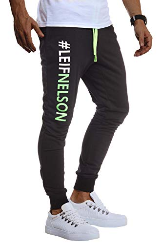 Leif Nelson heren trainingsbroek sportbroek slim fit mannen fitnessbroek joggingbroek lange fitnessbroek voor sport training bodybuilding jongens sweatpants jogging LN8295