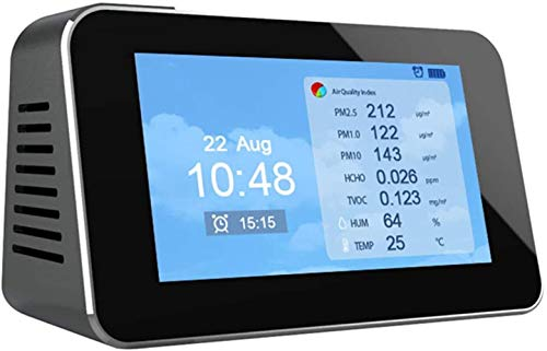 XY-M Laserabtastung Uhren Wecker, Elektrochemie Formaldehydde/Luftqualität/Stauberkennung,PM2.5/PM1.0/PM10/HCHO/TVOC/Temperatur/Luftfeuchtigkeit Tester