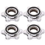 VOSAREA - Collares Spin-Lock con barra de 4 piezas de abrazaderas de tornillo hexagonal para entrenamiento fitness con mancuernas