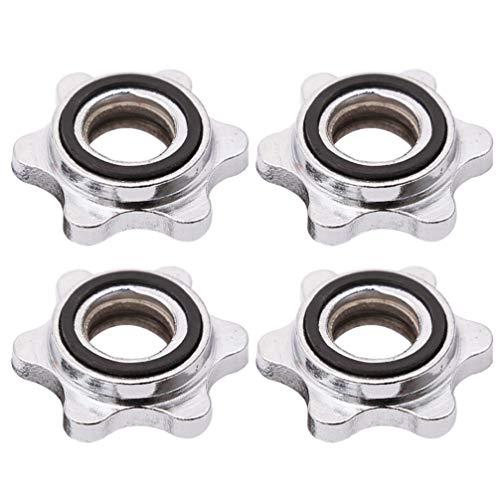 VOSAREA 4 collares giratorios con mancuernas de tornillo hexagonal para entrenamiento de fitness con mancuernas