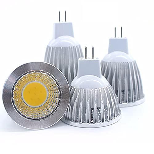 GHC LED Bombillas Bombilla LED COB E27 E14 GU10 MR16 Luces LED Spotlight Dimmable 9W 12W 15W Spot Bombilla Lámpara de Alta Potencia DC 12V 85-265V (Color : Cold White, Color emisivo : MR16 DC12V)