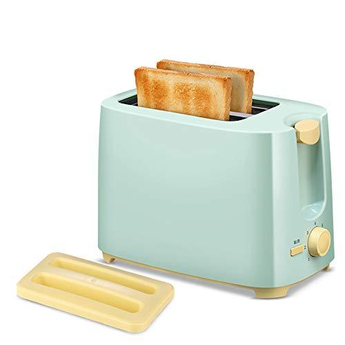 QWQ Tostadoras, Aparatos De Cocina De Cocina Fry 750W Rápido Tostadora Casa Desayuno Automático Mini Automática Pan Sandwichera 2- Rebanada Eléctricos