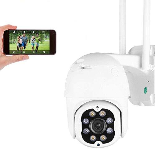4MP Cámara de Seguridad WiFi Exterior, Aottom HD PTZ Camara Vigilancia Exterior, Cámara de Vigilancia, Audio de Dos Vías, Visión Nocturna 40M, Detección de Movimiento, Notificación de Alarma, IP66