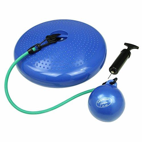Carnegie O² Balance Pilates Sitz-Kissen Toning Sport Fitness Koordination inkl. Widerstandsband Tube