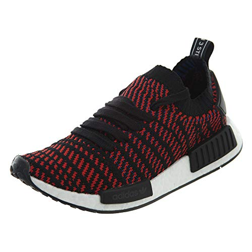 adidas Men's NMD_R1 STLT Primeknit Originals Running Shoe (7.5 M US, Core Black/Solid Red)