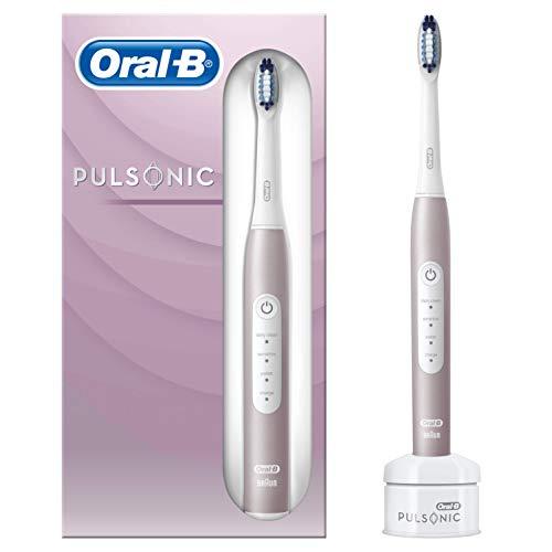 Oral-B Pulsonic Slim Luxe 4000 Sonic Cepillo De Dientes Eléctrico, 1 Mango Rosa Oro Recargable Con Tecnología De Braun, 1 Cabezal De Recambio