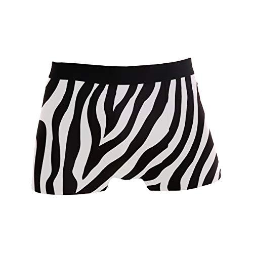 TropicalLife LZXO Herren Boxershorts Zebra Print Pattern Unterwäsche Trunks Sanft Strecken Atmungsaktive Boxershorts (Größe: M)