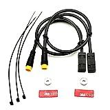 1 par de cables de sensor de freno de bicicleta eléctrica para Bafang MID Drives motor 250 W/350 W/500 W/750 W/1000 W delantero y trasero corte de potencia del sensor de freno cable