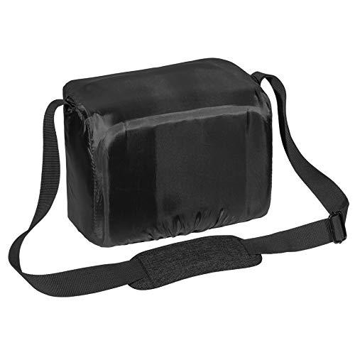 PEDEA DSLR-Kameratasche Fashion Fototasche für Spiegelreflexkameras mit wasserdichtem Regenschutz, Tragegurt und Zubehörfächern (Größe XL, schwarz)