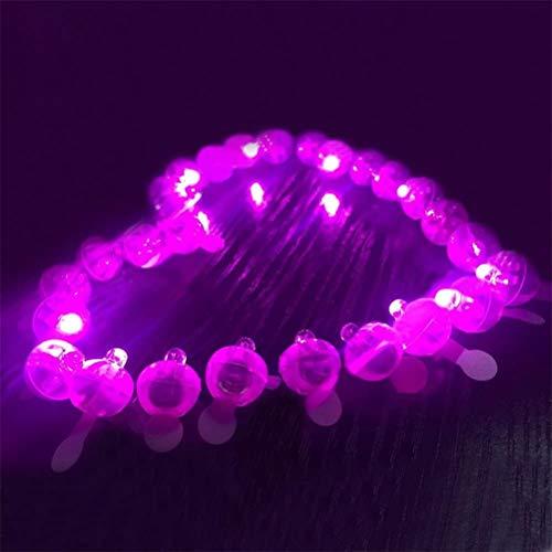 BSTEle 100 Uds, Luces de Globo Redondas, linternas de Papel LED, luz Impermeable, lámpara de atmósfera de Festival para Boda, Camping
