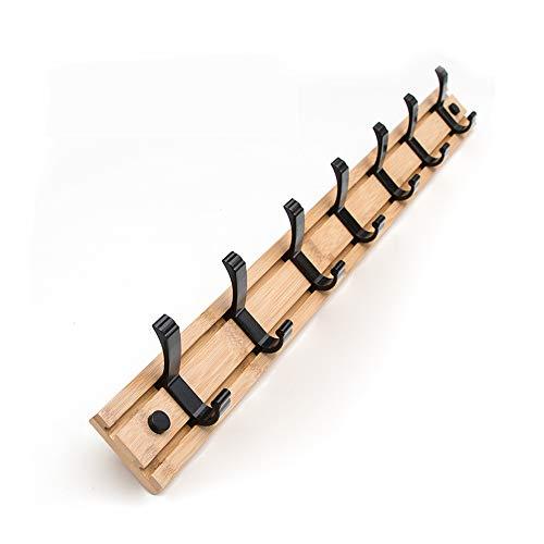 Decorativo Perchero Pared Movible Perchero de Pared Sticks Bambú Madera Perchero de Montaje Pared, para Colgando Ropa y Sombreros