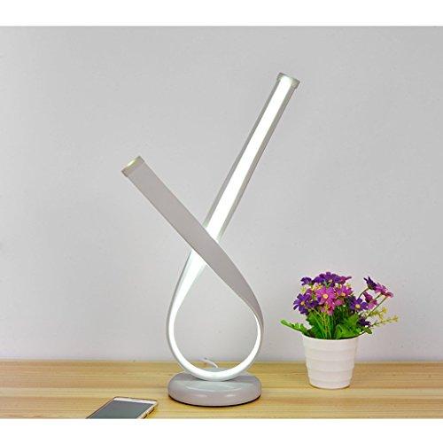 Praktische und Einfache Tischlampe Schreibtischlampe Licht Nordisch Einfach und Modern Stil Fliegendes Band Kreative Led Schreibtischlampe Schlafzimmer Nachttischlampe Kreative Energieeinsparung Prak
