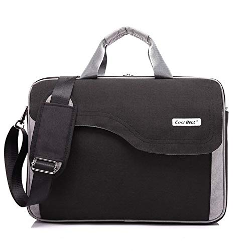 Shirenhua Messenger Bag Laptop Bag 15',15.6',17',17.3 inch, Notebook Case,Large Capacity and Convenient (Color : 3039 Black, Size : 17.3 inch)