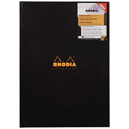 Rhodia Notizbuch, Format A4, Pappeinband/ Hardcover, 192Seiten, Schwarz