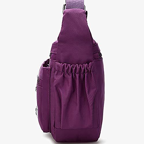 LXESWM schoudertas voor dames meervoudig nylon waterdichte schoudertas voor dames lichte vrijetijdsreis-portemonnee