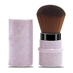 professional LHEI Pink Retractable Kabuki Brush Makeup Brush Travel Foundation Kabuki Brush…