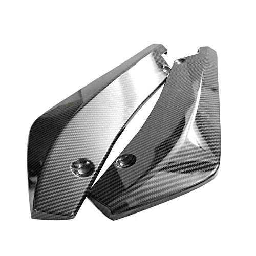 Camisin 2 protectores de difusores de parachoques trasero de fibra de carbono para coche.