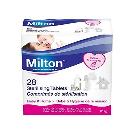 Milton Ustensiles Solo Travel Stérilisateur à bouteille//Seau /& de Stérilisation 28 Comprimés