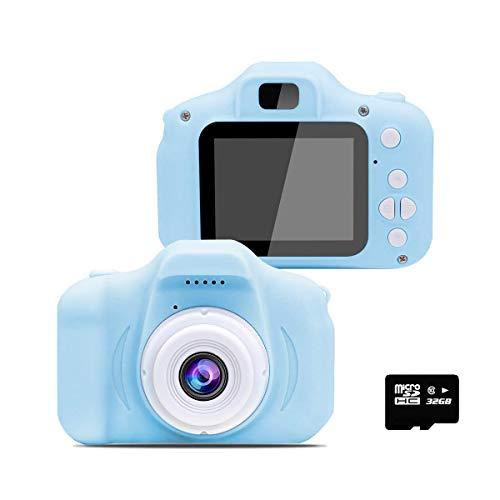 カメラ 子供用 YAPUSEN キッズカメラ 超軽量 子供デジタルカメラ ミニトイカメラ 1300万画素 2.0インチ画面 多機能 写真と撮影対応 USB充電 32GSDカート付き ブルー