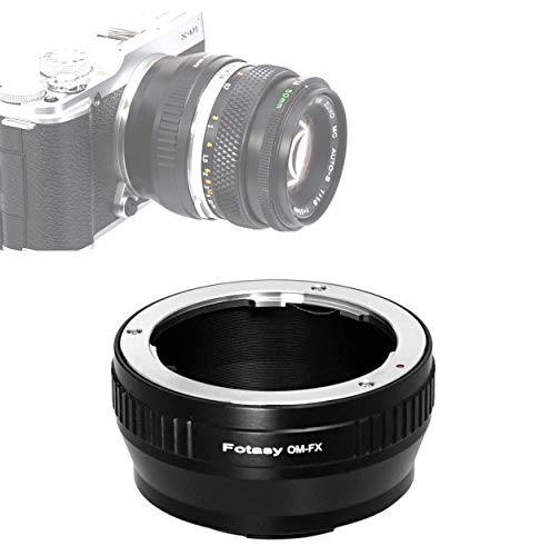 Fotasy OM Lens to Fuji X Adapter, Olympus OM Mount to X Mount Adapter, fits Fujifilm X-Mount Mirrorless Cameras X-Pro2 X-E2 X-E3 X-A5 X-M1 X-T1 X-T2 X-T3 X-T10 X-T20 X-T30 X-H1