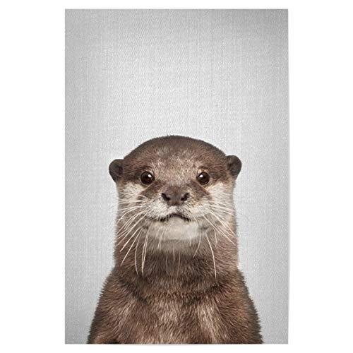 artboxONE Poster 30x20 cm Für Kinder Otter - Colorful hochwertiger Design Kunstdruck - Bild Animal Animals Nature