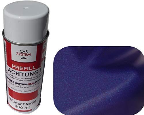 Pintura en aerosol para coche, 400 ml, 1 K, color azul metalizado mate, no barniz transparente, tuning Trend