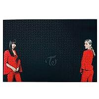 Twice 1000ピース ジグソーパズル パズル 減圧玩具 漫画木製 大人パズルおもちゃ 壁の装飾 ギフト(75cm * 50cm)