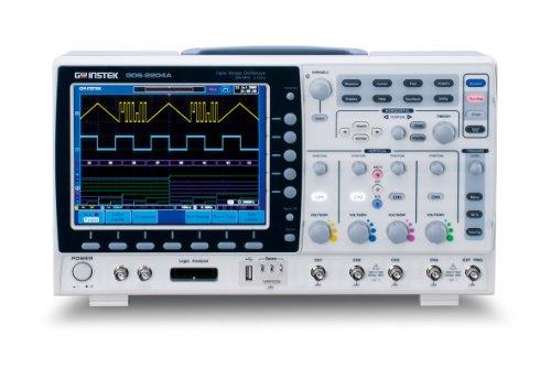 GW Instek GDS-2074A Visual PersistenDigital-Speicher-Oszilloskop, mit 20,3cm großem LCD-Farbdisplay und USB-Port, Bandbreite 70MHz, 4-Kanal, Anstiegszeit 5ns