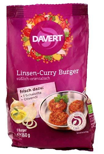 Davert Linsen Burger, 160 g