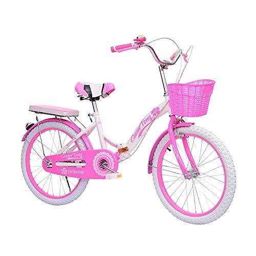 MLSH Bicicletas for niñas de 8 a 14 años 18 20 22 Pulgadas Bicicletas for niñas, Bicicletas for niños de fácil Montaje, Bicicleta de Estudiante Little Princess Style, Rosa