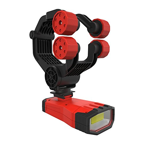EZ RED XLUHLS 1000 lm Rechargeable, Cordless Under Hood/Hands Free Light with Pistol Grip & Clamp, Red