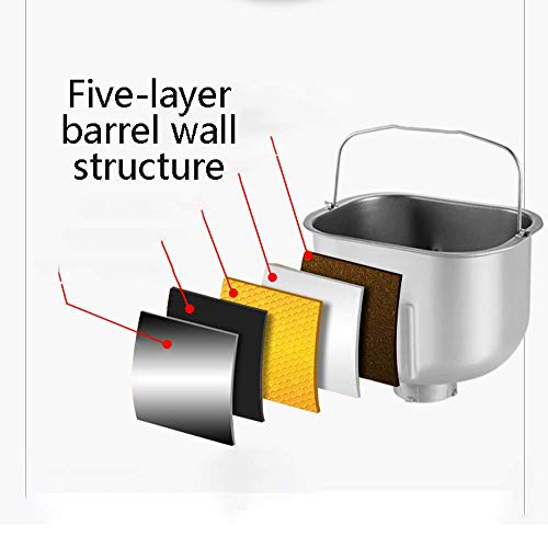 GJNVBDZSF Bread Maker- Machine With 10 Programmes Fast Loaf -BakingKitchen Cooking Bread Maker- With Timer Delay,Keep Warm Setting -noise Low