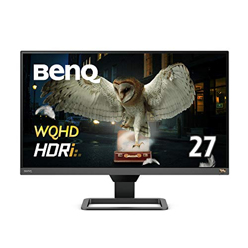 BenQ 27インチWQHD高画質&高音質モニター EW2780Q(27インチ/WQHD/IPS/HDRi/sRGB99%カバー/treVolo高品質スピーカー/HDMI2.0x2/DP1.4)