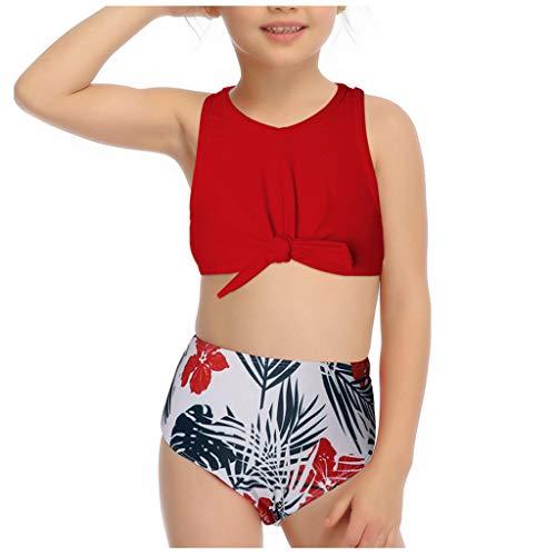 baratos y buenos LANSKIRT_Bikinis Bikini Set Trikini Bikini para niñas Vikinis Knot Swimwear… calidad