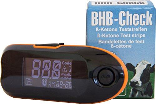 BHB-Check - Keton-Test-System für Milchkühe - Messgerät inklusive 50 Teststreifen