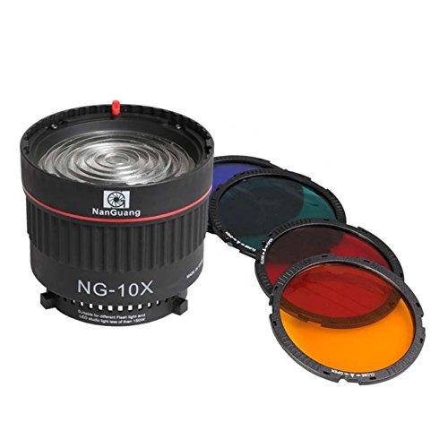 Nanguang Fresnel Linse NG-10x stufenlos 10-40º Spot mit Bowens-Anschluß
