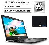 Dell Inspiron 15 Laptop, 15.6' HD Touchscreen, 10th Gen Intel Core i3-1005G1 Processor up to 3.40GHz, 8GB DDR4 RAM, 256GB PCIe NVMe M.2 SSD, HDMI, Wireless-AC, Windows 10, Black, KKE Mousepad